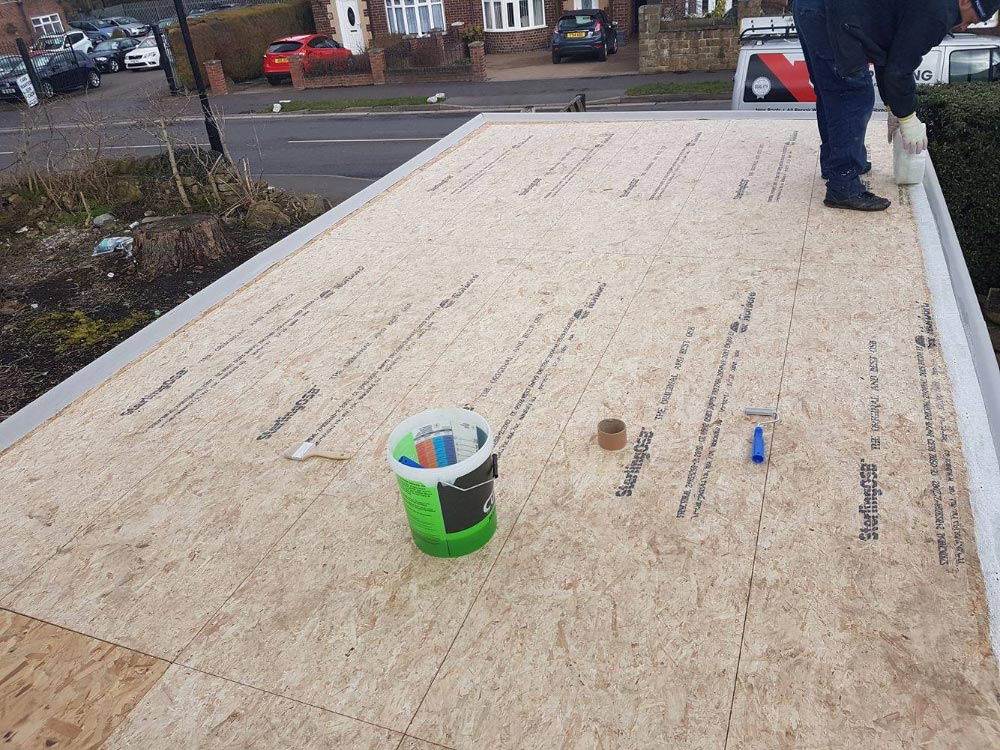 Flat Garage Rubber Roof Replacement Sheffield South Yorkshire